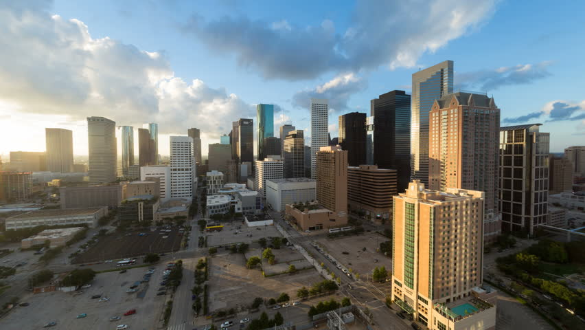 HOUSTON - CIRCA NOVEMBER 2013: Houston, Texas, USA, city skyline, day to night