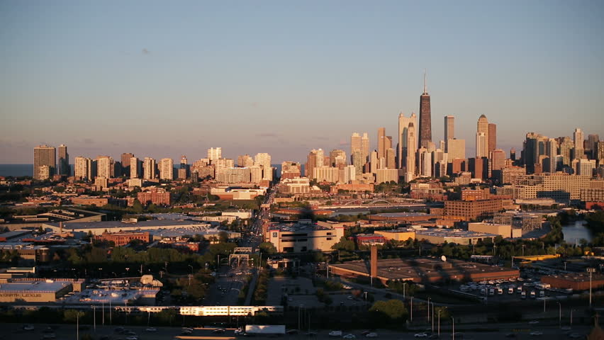 CHICAGO - CIRCA OCTOBER 2013: USA, Illinois, Chicago, Elevated view over the City skyline | Shutterstock HD Video #6050138