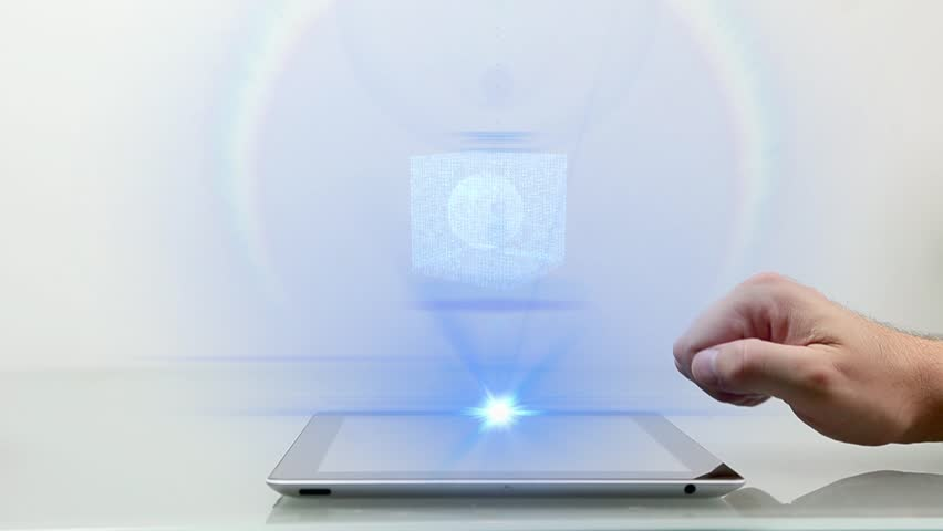 Tablet PC with Business hologram | Shutterstock HD Video #6078728