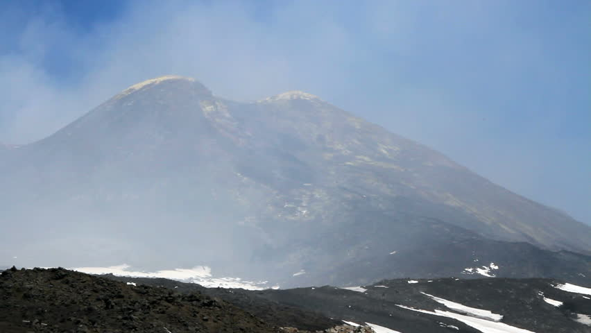 Vulcan Etna in April 2014, Sicilia, Italy.