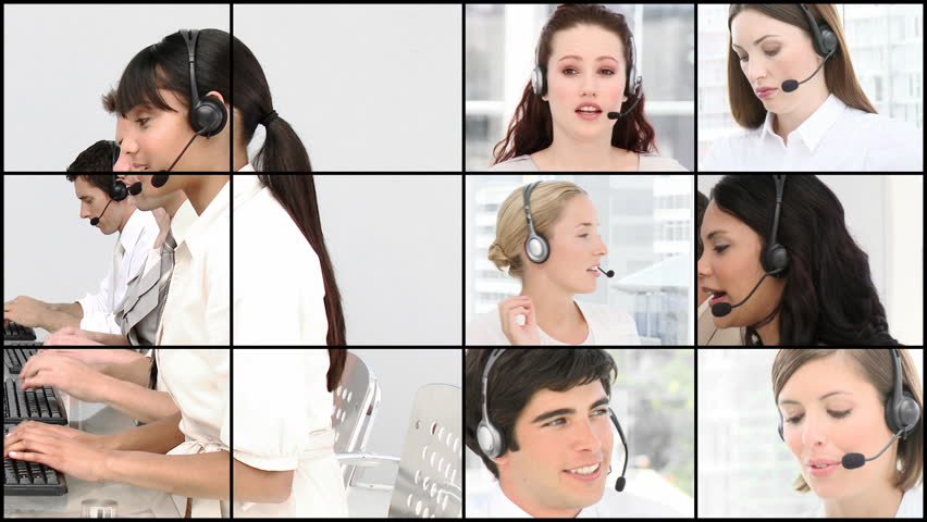 HD video footage of a business call centre in HD format