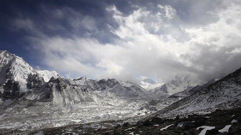 Timelapse view from Kala Patthar, Everest region, Nepal