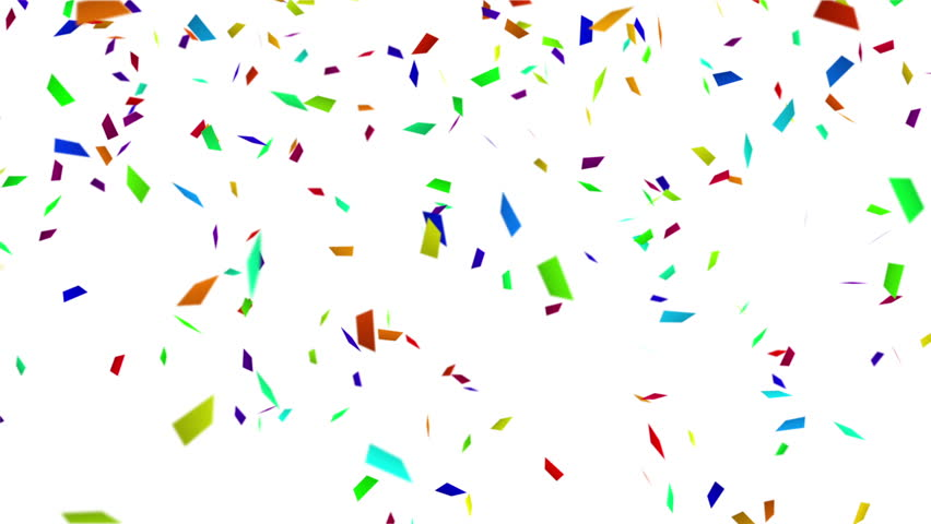colorful confetti with luma matte. computer generated seamless loop abstract motion background