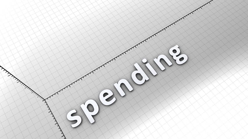Growing chart graphic animation, Spending. | Shutterstock HD Video #6165548