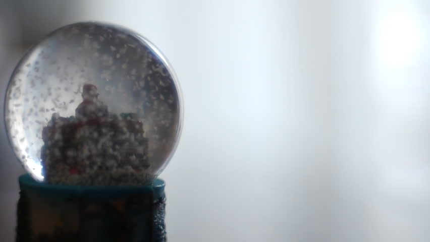 Stock video footage Snow globe background