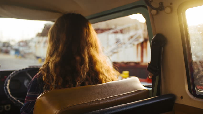 Hipsters in camper van | Shutterstock HD Video #6221678