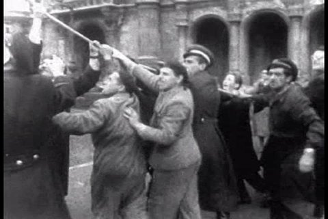 CIRCA 1950s - Hungarians revolt against the Russians in 1956.