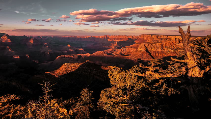 Amazing Golden Sunrise Timelapse over Grand Canyon National Park | Shutterstock HD Video #6272228