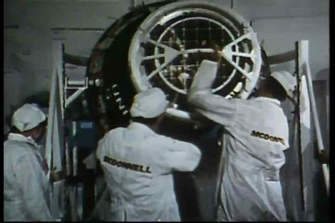 CIRCA 1960s - Footage from an unmanned Mercury spaceflight and a Mercury flight with the chimpanzee Ennis.