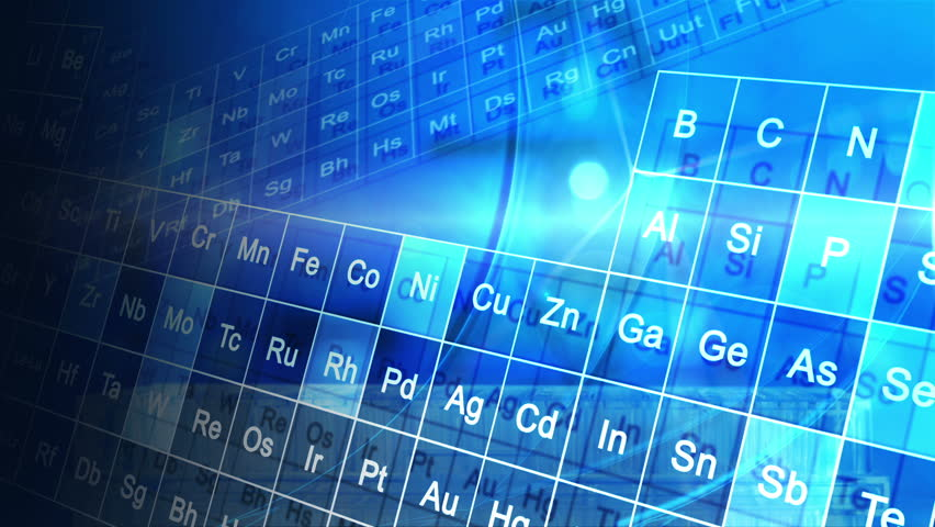 Cg motion graphic scientific periodic table elements cg motion cg motion graphic scientific periodic table elements cg motion graphic scientific blue periodic table elements with research laboratory background stock urtaz Choice Image