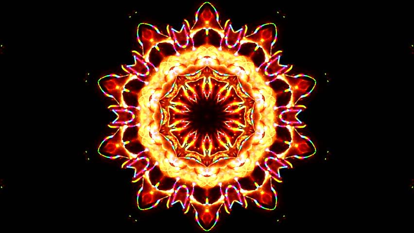 Kaleidoscope colorful visuals