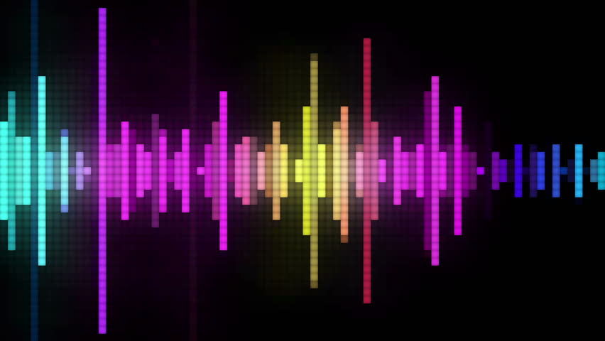 Audio spectrum glow simulation use for music and computer calculating   | Shutterstock HD Video #6314999