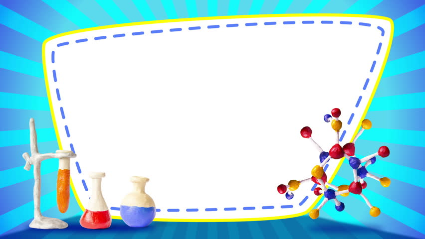 Scientific plasticine frame with atom, looping,… - Royalty Free Video