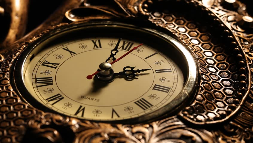 Close up of an Old clock face  | Shutterstock HD Video #6367799