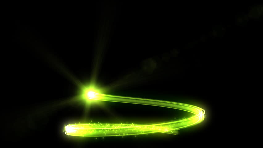 Christmas tree green glow abstract shape