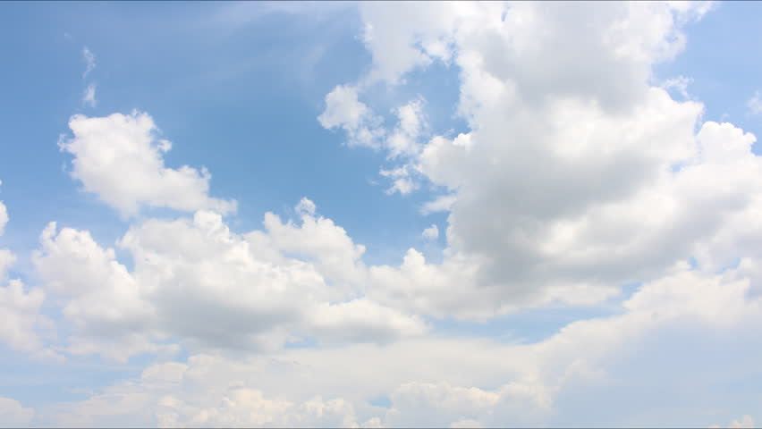 Moving clouds and blue sky time lapse | Shutterstock HD Video #6440333