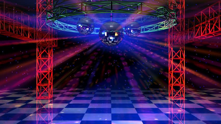 Dance Floor With Mirror Balls Stock Footage Video 100