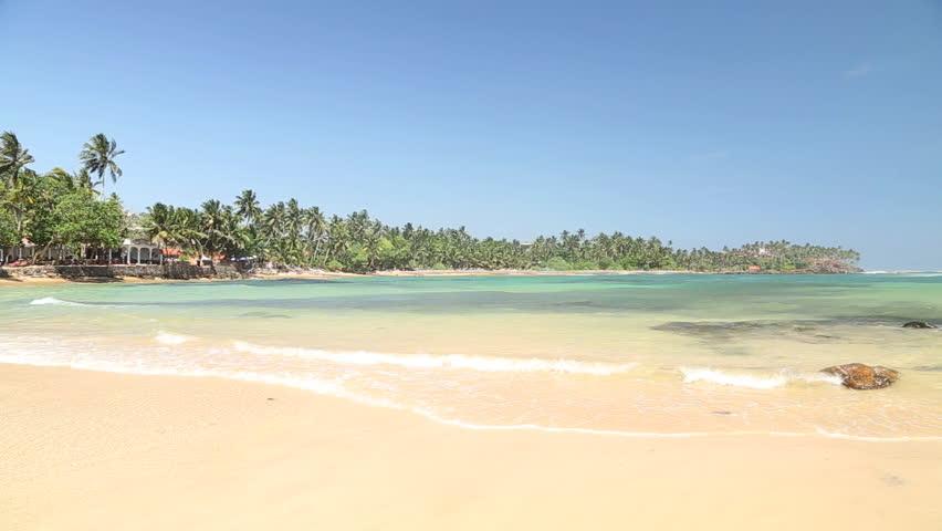 Beautiful sandy beach in Sri Lanka | Shutterstock HD Video #6482888