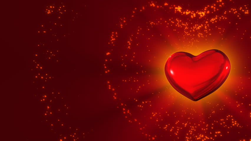 Revolving Heart Shapes Loop High Definition Animated Loop Of Three ...
