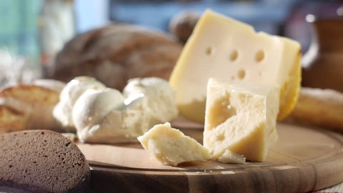 hard and soft cheesestock footage, food, harvest