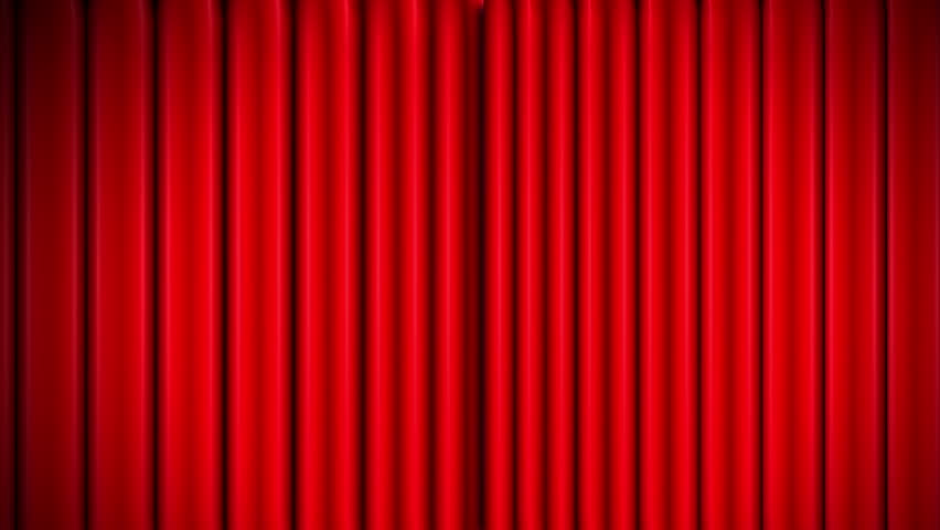 Stock video of red theater velvet curtains opening and ...