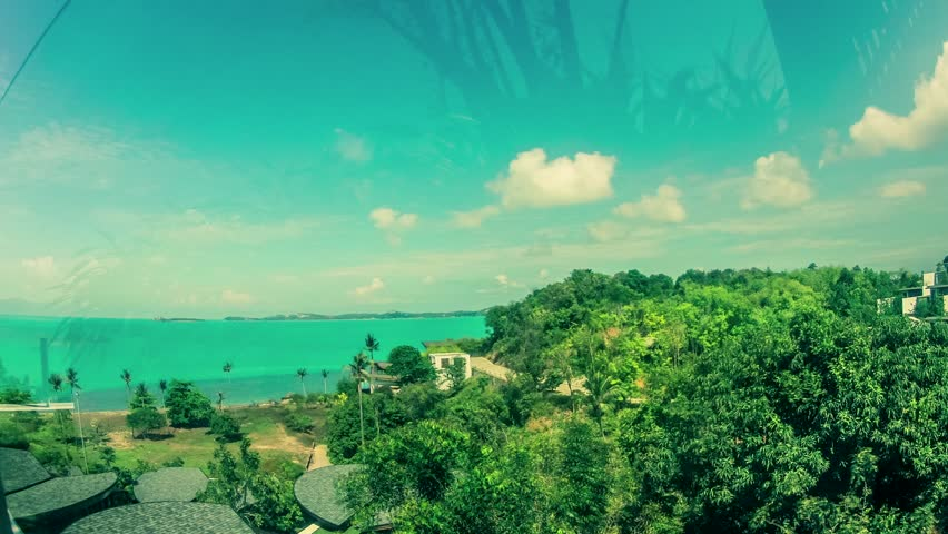 Thailand, Koh Samui - Sea & Boat & Sky (time-lapse) | Shutterstock HD Video #6543038