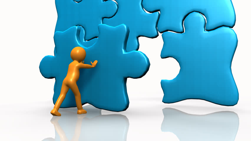Puzzle Piece Stock Footage Video | Shutterstock