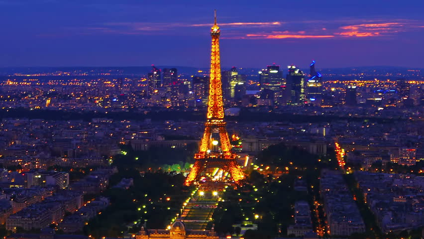 Paris france may 28 paris skyline and eiffel tower aerial paris france may 28 paris skyline and eiffel tower time lapse voltagebd Choice Image