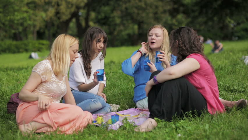 Best Friends Having A Picnic Stock Photo - Image: 57750042