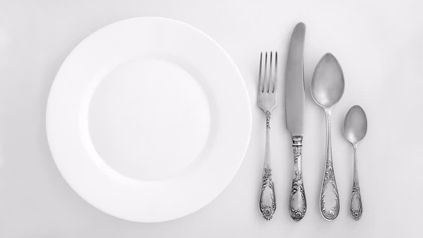 table top background hd. vintage cutlery set and plate appear on a white background. overhead view - hd stock table top background hd