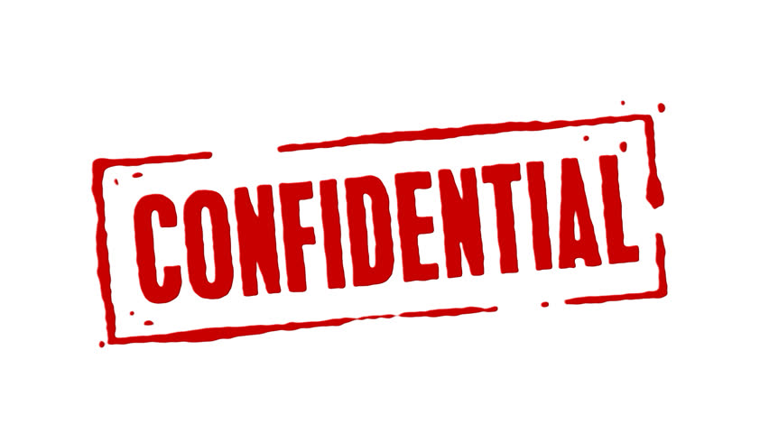 Red Rubber Stamp Animation Of The Word Confidential With White Background Black And Alpha Channel