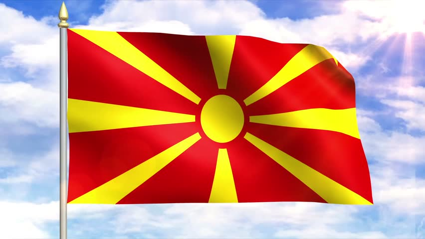 Flag Of Macedonia Stoc...