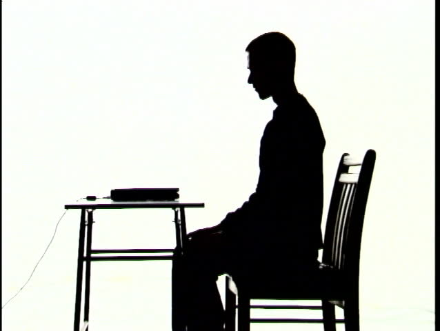 Tech Silhouette, At Computer