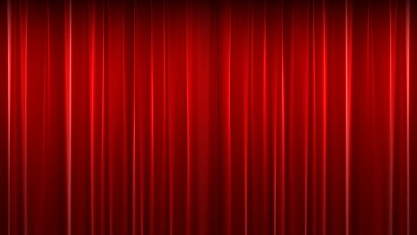 Opening And Closing Red Curtain Stock Footage Video ...