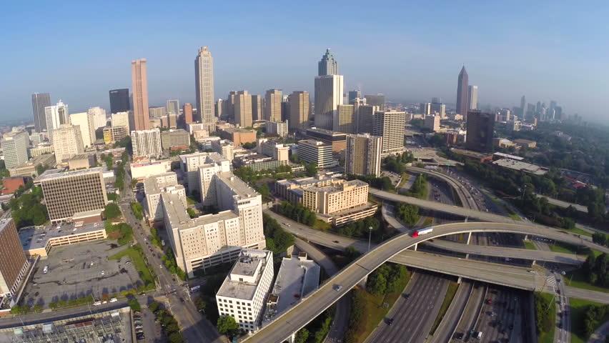Downtown Atlanta Aerial Video