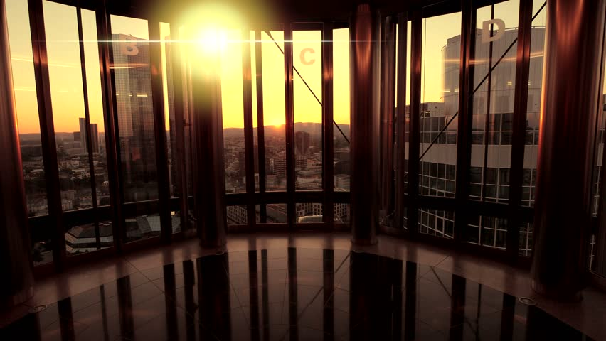 Inside modern building luxury skyline stock footage video