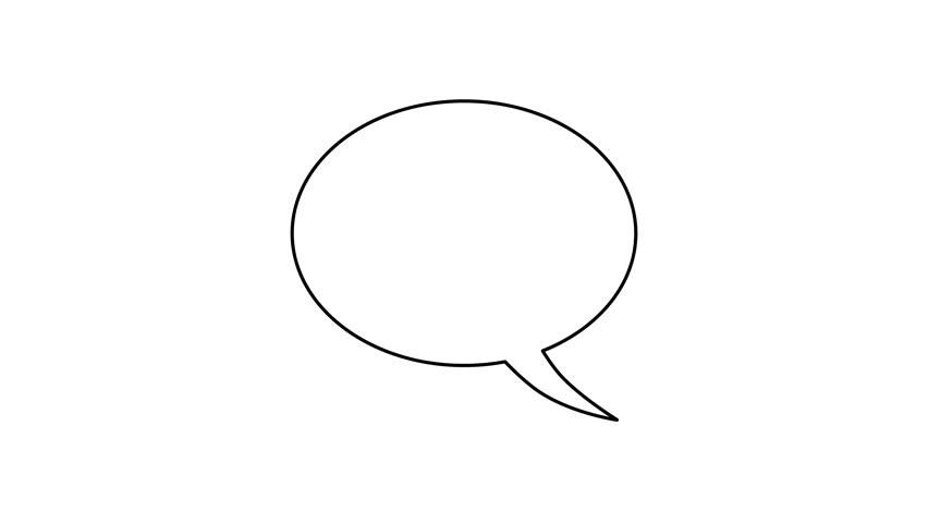 stock video of four variations of blank cartoon speech 6964591 rh shutterstock com cartoon talk bubble free cartoon talk bubble photoshop