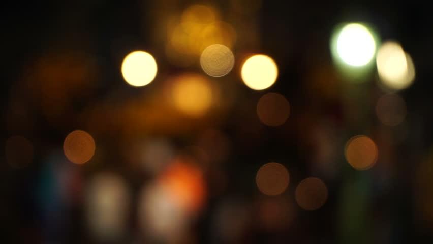 City Night Light Blur HD Stock Footage Video 7020988