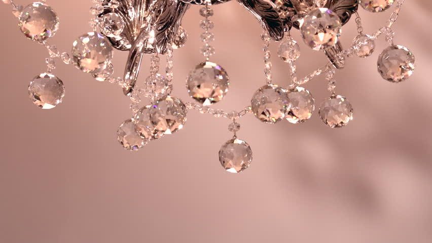 Crystal Chandelier. Luxury Crystals Of A Classic Chandelier Close ...