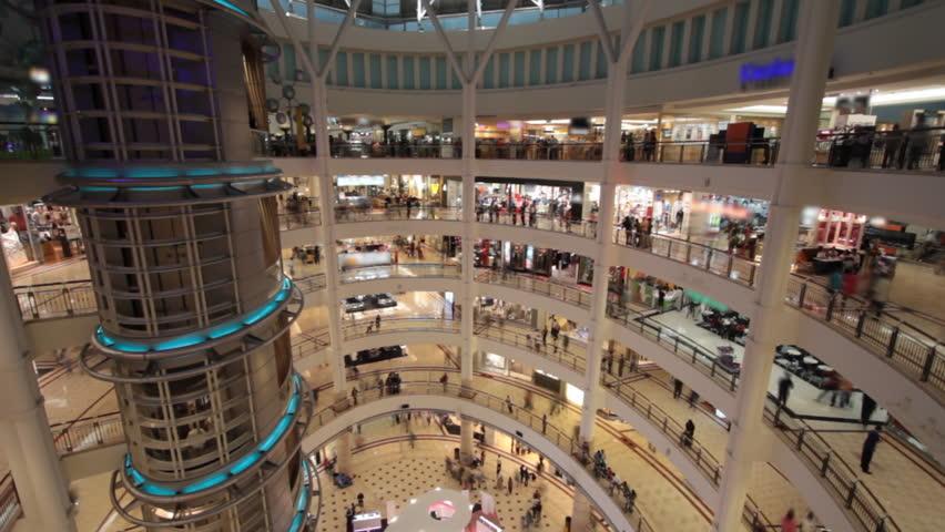 Shopping mall timelapse