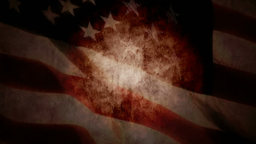 Grunge look US flag