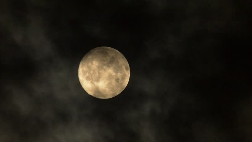 Full Moon with clouds changing.   Shutterstock HD Video #7083418