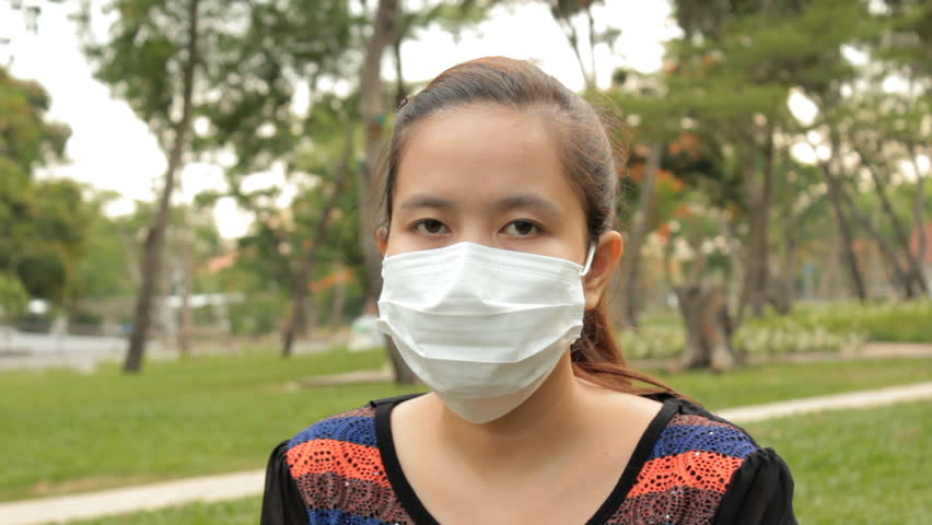 Woman Wear Surgical Mask in Stock Footage Video (100% Royalty-free ...
