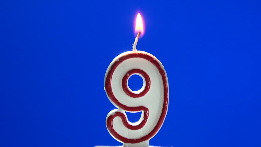 Number 6 Six Birthday Candle Burning Blow Out At The