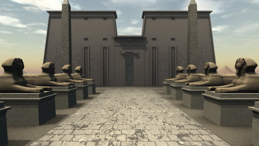 & Stock video of sphinx statues at a temple in | 7117768 | Shutterstock