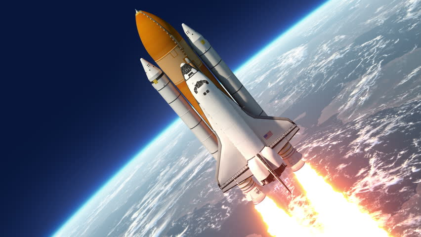 Space Shuttle Launch. 3D Animation. | Shutterstock HD Video #7118395