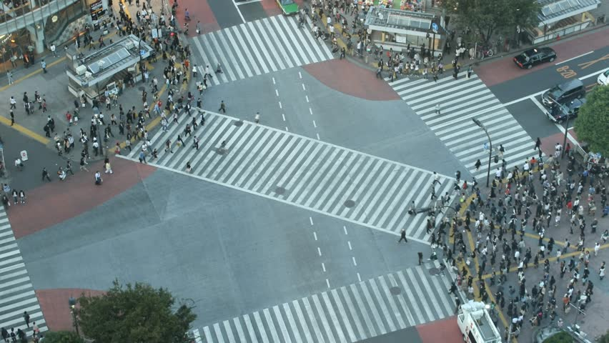 Time-lapse Shibuya cross-walk