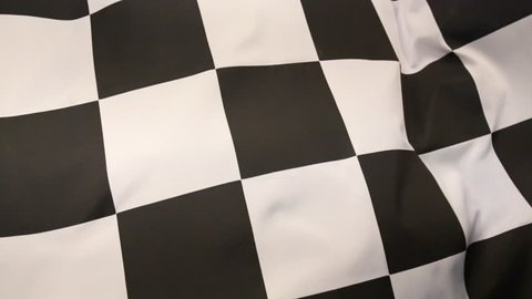 The checkered flag has a black-and-white checkered pattern, displayed to drivers at the end of a race.