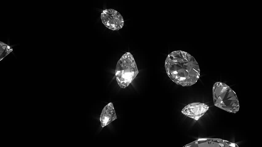 Falling diamonds 03  detail - looped cg animation | Shutterstock HD Video #718243