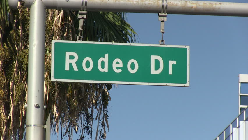 Stock Video Clip Of Sign Of Rodeo Drive In Beverly Hills
